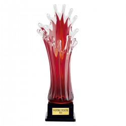 4001a Piros Üveg Váza 50 cm
