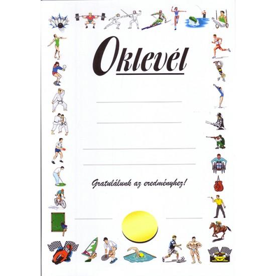 Oklevél - Gratuláció